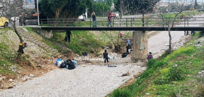 Ναύπακτος: Οι Save your Hood καθάρισαν τον χείμαρρο ΣΚΑ
