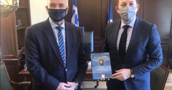 Με τον Αναπληρωτή Υπουργό Εσωτερικών Στέλιο Πέτσα συναντήθηκε ο Κώστας Λύρος