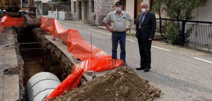 Ξεκίνησε η κατασκευή αντιπλημμυρικού έργου στα Σιταράλωνα του δήμου Θέρμου