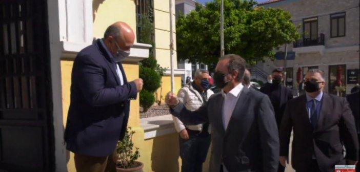 Tη Ναύπακτο επισκέφθηκε ο Σπήλιος Λιβανός-Συνάντησεις στο Δημαρχείο