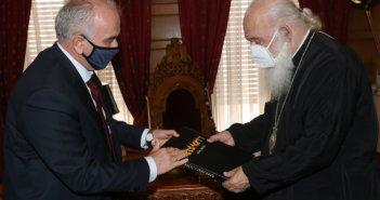 Οι Δήμαρχος Μεσολογγίου στον Αρχιεπίσκοπο