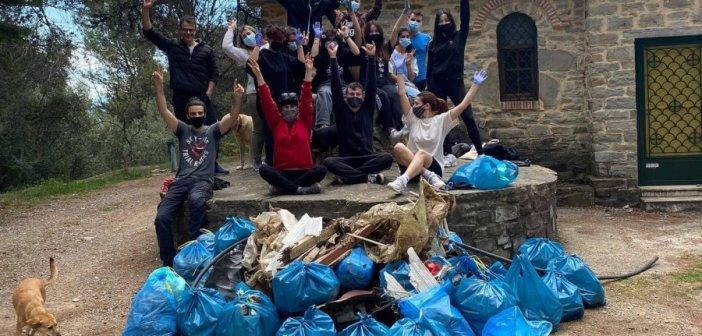 Εθελοντική δράση καθαριότητας στην Αγία Μαρίνα Καμαρούλας (ΔΕΙΤΕ ΦΩΤΟ)