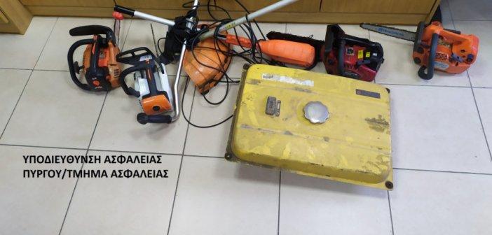 Εξιχνιάσθηκαν δέκα κλοπές σε εξοχικές οικίες και συνεργεία στην Ηλεία (εικόνες)