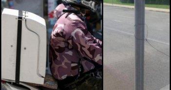 Αδιανόητο περιστατικό: Ντελιβεράς έπεσε σε παγίδα με τεντωμένη πετονιά σε δρόμο