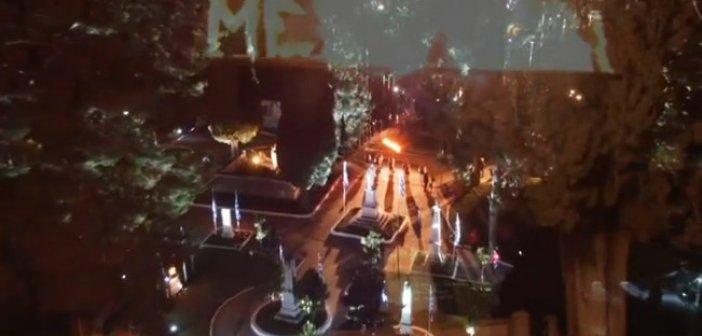 Μεσολόγγι: Πανοραμικά πλάνα από τον Κήπο των Ηρώων το βράδυ της αναπαράστασης της ανατίναξης του Χρήστου Καψάλη (VIDEO)