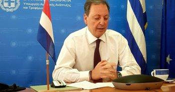 Η προώθηση της «Ελληνικής Διατροφής» και η προστασία των προϊόντων μας στην τηλεδιάσκεψη Λιβανού με το Ελληνο-Ολλανδικό Επιμελητήριο