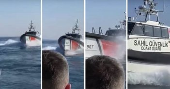 Τουρκική ακταιωρός παρενόχλησε σκάφος του Λιμενικού ανοιχτά της Λέσβου – Δείτε βίντεο