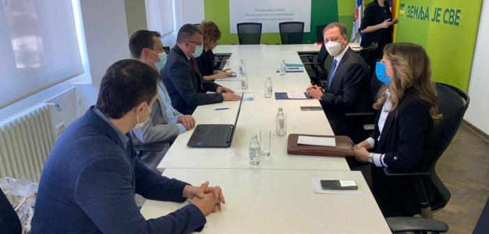 Την προώθηση ελληνικών αγροτικών προϊόντων και επενδύσεων στη Σερβία συζήτησαν ο Σπ. Λιβανός με τον αναπληρωτή πρωθυπουργό και υπ. Γεωργίας, Μπ. Νεντέμοβιτς