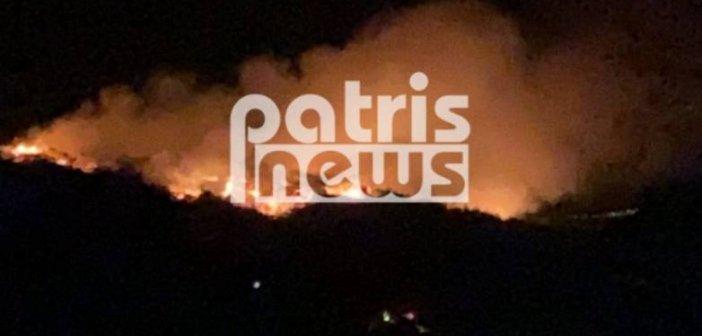 Δυτική Ελλάδα: Τρομακτική φωτιά τη νύχτα στη Σμέρνα – Δυνάμεις της Πυροσβεστικής και από την Πάτρα