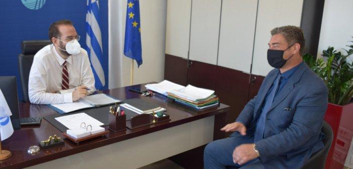 Συνάντηση του Ν. Φαρμάκη με τον Αντιπρόεδρο του ΕΛΓΑ, Ν. Δούκα