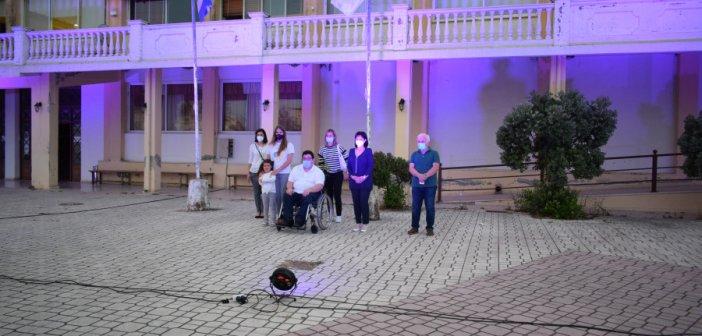 Π.Ε. Αιτωλοακαρνανίας: Φωταγώγηση του Διοικητηρίου για την Παγκόσμια Ημέρα Ατόμων με Ιδιοπαθείς Φλεγμονώδεις Νόσους του Εντέρου