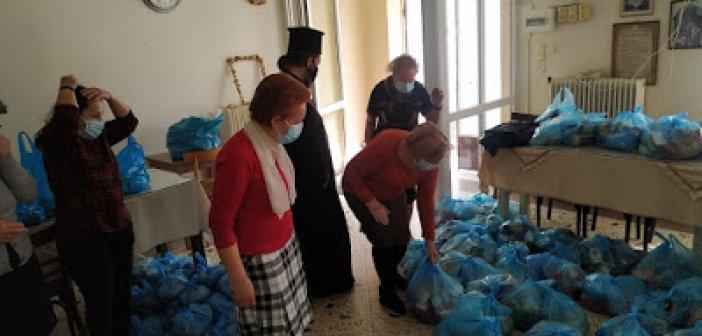 Αγία Τριάδα Αγρινίου: Διανομή τροφίμων στην ενορία μας για τις άγιες μέρες του Πάσχα