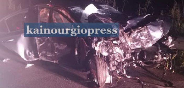 Παναιτώλιο: Άμορφη μάζα αυτοκίνητο μετά από τροχαίο στα Αμπάρια (φωτο)