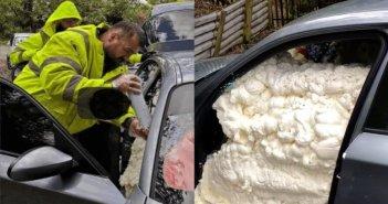 Εργοδότης άφησε απλήρωτους τους υπαλλήλους του και του γέμισαν το αυτοκίνητο με αφρό πολυουρεθάνης