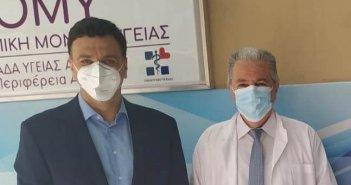 Τριχωνίδα: Ο Αναληψιώτης διευθυντής Γεώργιος Σταθόπουλος του Κ.Υ. Κεραμεικού με τον Β. Κικίλια