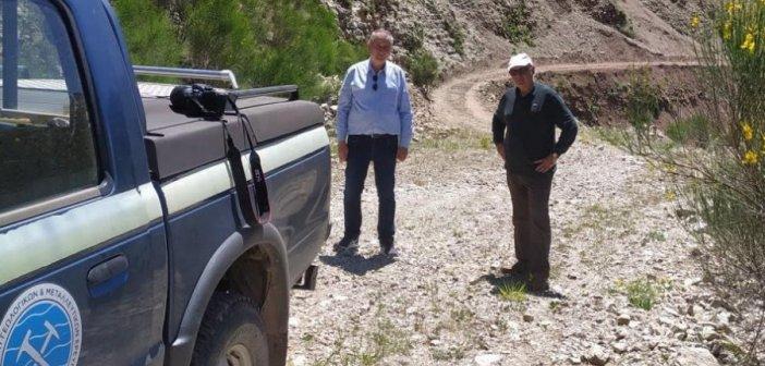Επίσκεψη κλιμακίου του ΕΑΓΜΕ στον δήμο Θέρμου για τα προβλήματα από τις κατολισθήσεις