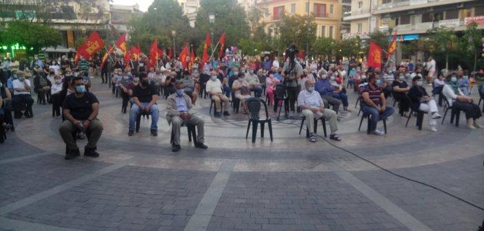 """Αγρίνιο: Συγκέντρωση του ΚΚΕ για να μην υλοποιηθούν τα """"αντεργατικά σχέδια"""" της κυβέρνησης (εικόνες)"""