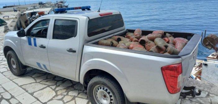 Λιμεναρχείο Μεσολογγίου: Κατάσχεση παράνομων αλιευτικών εργαλείων περιοχή Κρυονερίου