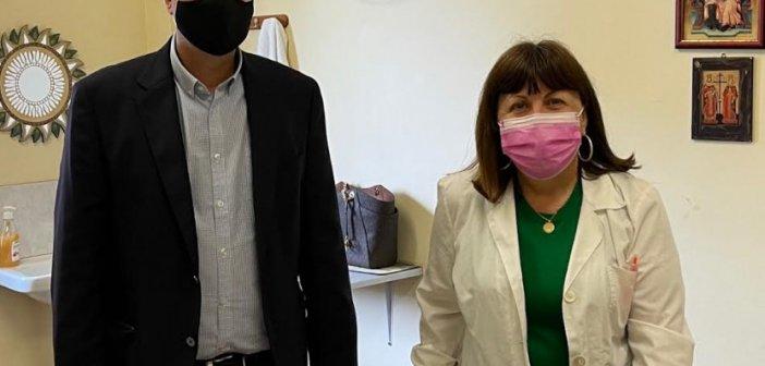 Επίσκεψη Θανάση Παπαθανάση στο Κέντρο Υγείας Βόνιτσας