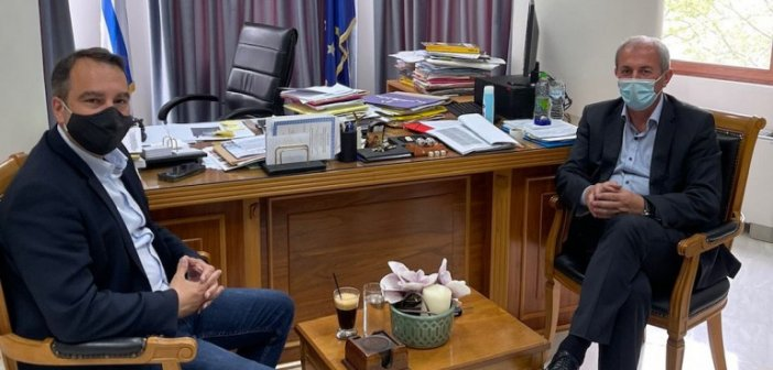 Συνάντηση Θ. Παπαθανάση με τον Σπ. Κωνσταντάρα – Τι είπαν για τον οδικό άξονα Ναυπάκτου – Θέρμου