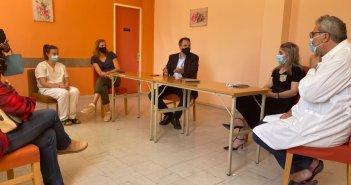 Αστακός: Επίσκεψη Θ. Παπαθανάση σε Δημαρχείο και Κέντρο Υγείας