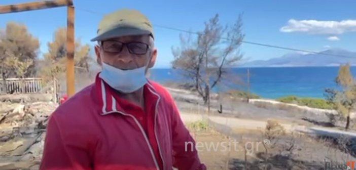 Στάχτη το σπίτι συνταξιούχου από το Αγρίνιο στην Κορινθία (εικόνες -video)