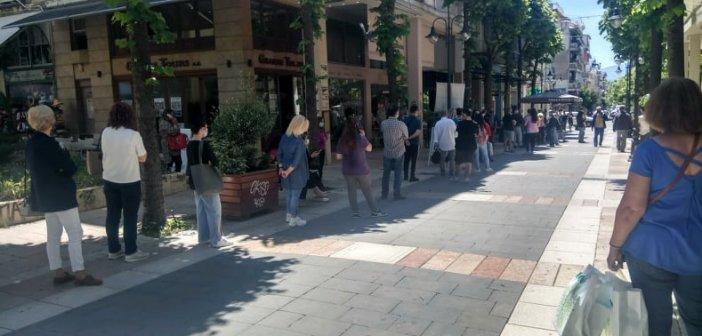 Αγρίνιο: Μεγαλύτερη από κάθε άλλη φορά η αναμονή για ένα rapid test (εικόνες)