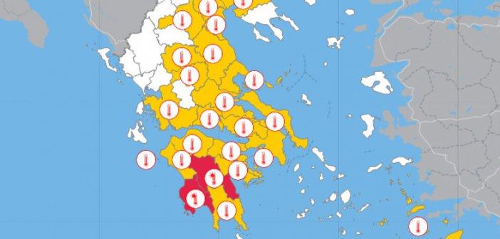 Καύσωνας με αφρικανική σκόνη στη Δυτική Ελλάδα