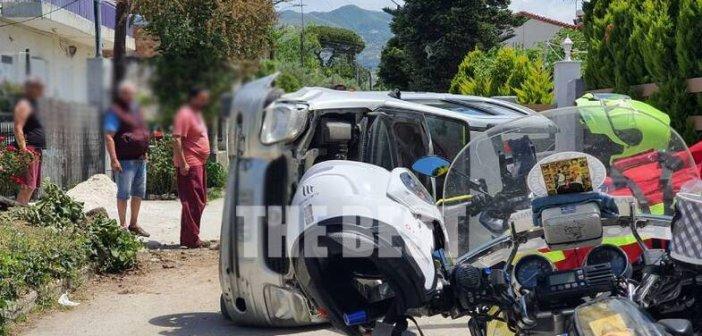 Απίστευτο τροχαίο στην Πάτρα: Τούμπαρε αυτοκίνητο στο οποίο επέβαινε παιδί (εικόνες)