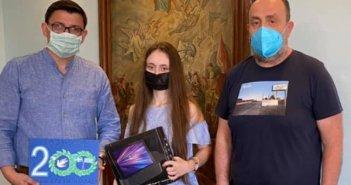 Ξηρόμερο: Βραβεύτηκε η μαθήτρια Όλγα Σακουφάκη για το λογότυπο των 200 χρόνων από την Επανάσταση του 1821