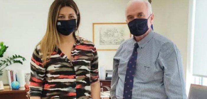 Με την Υφυπουργό Τουρισμού Σοφία Ζαχαράκη συναντήθηκε ο Κώστας Λύρος