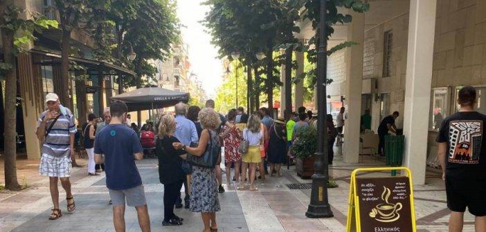Αγρίνιο: Μεγάλη αναμονή για rapid test μέσα στη ζέστη  (εικόνες)