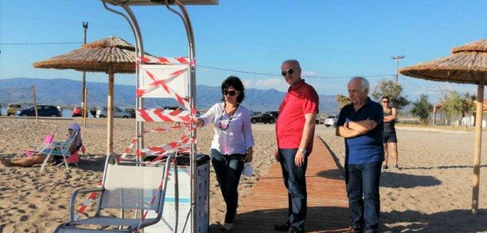 Τουρλίδα Μεσολογγίου: Αυτόνομη πρόσβαση ατόμων με αναπηρίες στη θάλασσα