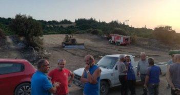 Κλιμάκιο του ΚΚΕ Αιτωλοακαρνανίας σε Δρυμό και Θύριο που επλήγησαν από την πυρκαγιά