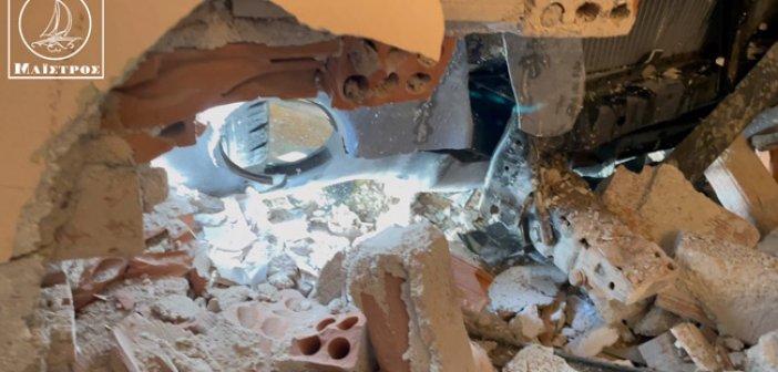 Αυτοκίνητο μπήκε μέσα σε σπίτι στην Αμφιλοχία (φωτο & βίντεο)