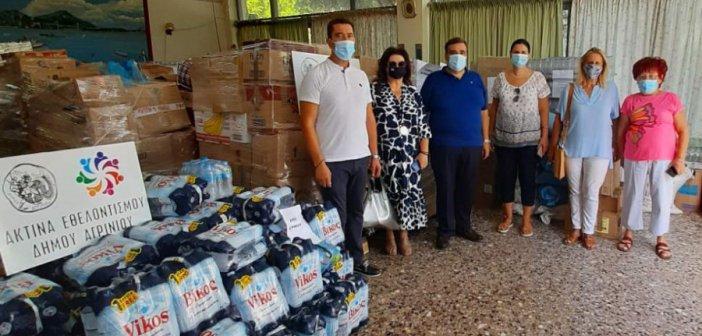 Εύβοια: Η έμπρακτη βοήθεια από το Αγρίνιο στις πυρόπληκτες περιοχές