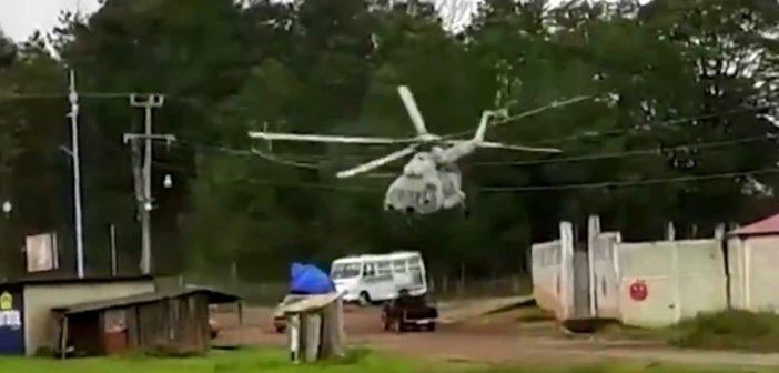 Μεξικό: Καρέ-καρέ η αναγκαστική προσγείωση στρατιωτικού ελικοπτέρου στη μέση του δρόμου (βίντεο)