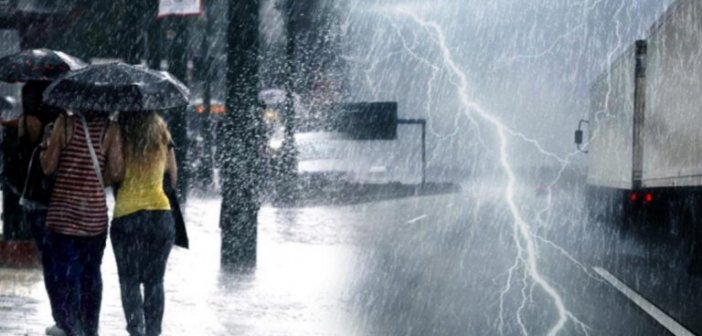 Καιρός: Έκτακτο δελτίο επιδείνωσης – Καταιγίδες, χαλαζοπτώσεις και ισχυροί άνεμοι τις επόμενες ώρες