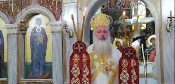 Ο Μητροπολίτης Κανάγκας κ.κ Θεοδόσιος στην Κυπάρισσο Αγρινίου