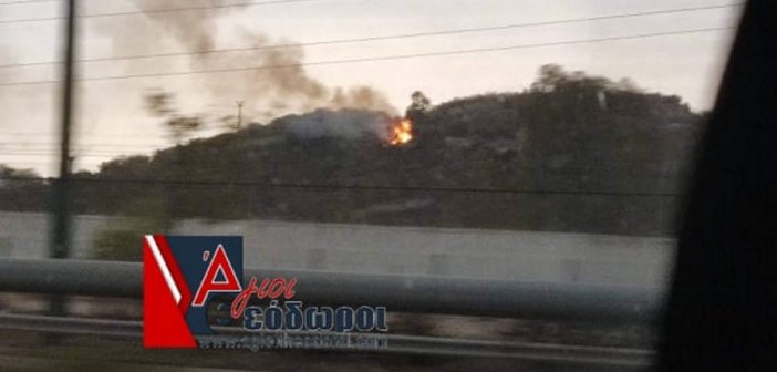 Άγιοι Θεόδωροι: Οι κεραυνοί της κακοκαιρίας προκάλεσαν φωτιά