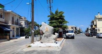 Τοποθετήθηκε το μνημείο με το ανάγλυφο του Γεωργίου Βαρνακιώτη στην Βόνιτσα