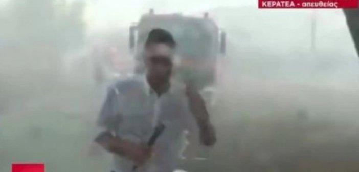 Καναντέρ έριξε νερό σε δημοσιογράφο του ΣΚΑΪ (vid)