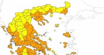 Ακραίος κίνδυνος πυρκαγιάς στη χώρα σήμερα -Δείτε τον χάρτη της Πολιτικής Προστασίας