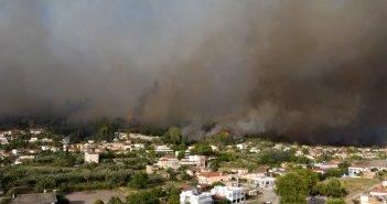 Φωτιά – Ηλεία: Νέες αναζωπυρώσεις στην περιοχή Βασιλάκι
