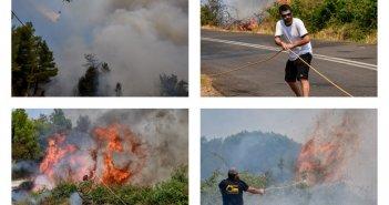 Ηλεία: Μάχη με τις φλόγες- Καίγεται η Νεμούτα! Αναζωπυρώσεις και νέες εκκενώσεις