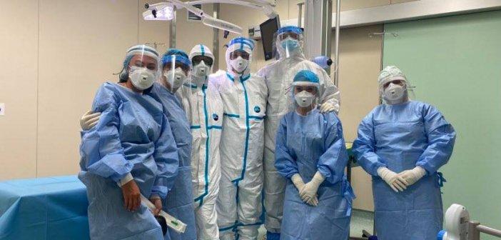 Ο πρώτος ασθενής θετικός στον κορωνοϊό που χειρουργήθηκε στο Νοσοκομείο Λευκάδας (ΦΩΤΟ)