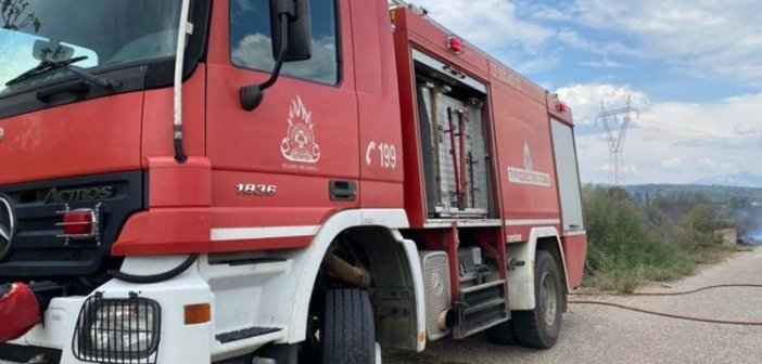 Κινητοποίηση της Πυροσβεστικής Υπηρεσίας Αμφιλοχίας για φωτιά στο Ρίβιο Ξηρομέρου