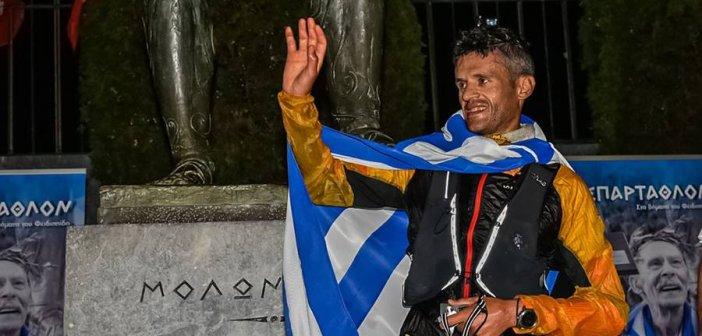 Ο Αγρινιώτης Φώτης Ζησιμόπουλος τερμάτισε πρώτος στο 39ο Σπάρταθλον! (video)