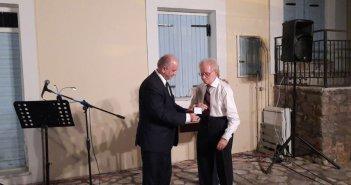 Με το Χρυσό Μετάλλιο αναγνωρίστηκε η προσφορά του Σωτήρη Κωτσόπουλου στο Μεσολόγγι (εικόνες)