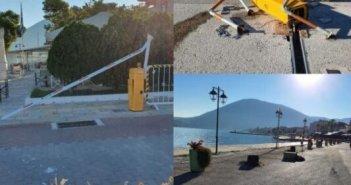 Νέοι βανδαλισμοί στην παραλία της Βόνιτσας (φωτο)